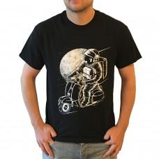 T-Shirt Scooterfahrer Scooter Astronaut S-XXL Roller