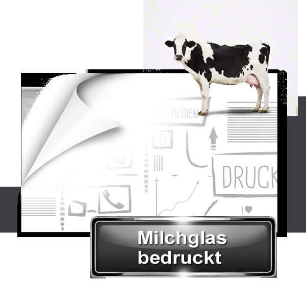 Milchglasfolie bedruckt